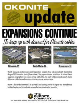 Okonite Newsletter Volume 1